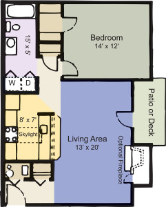 Holly Apartment (1br/1bth, 753 Sq Ft)